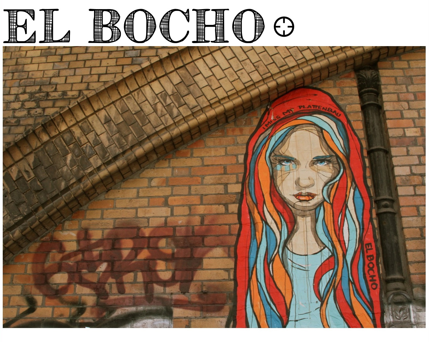 el bocho girl berlin street art murs de berlin